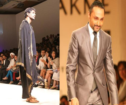 Milind Soman Rahul Bose Lakme Fashion Week