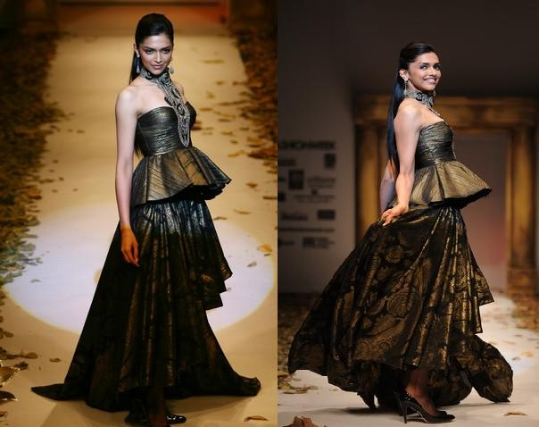 09 Delhi Fashion Week Deepika Padukone Taurn Tahiliani