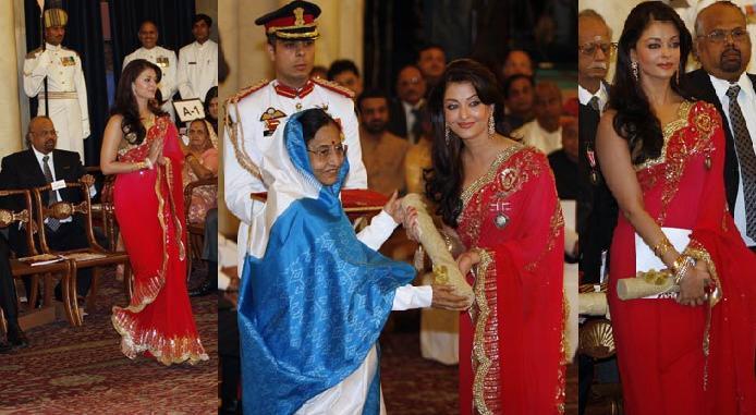 Aishwarya Rai Bachchan Padma Shri Rashtrapati Bhavan