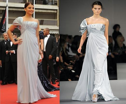 Aishwarya Rai Spring fever premiere Elie Saab blue gown