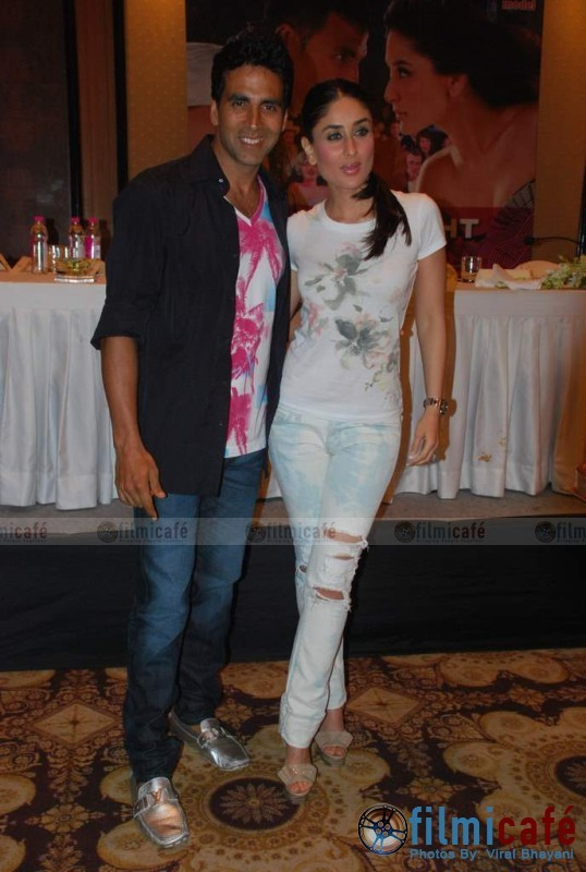 Akshay Kumar Kareena Kapoor Kambhakt Ishq press meet