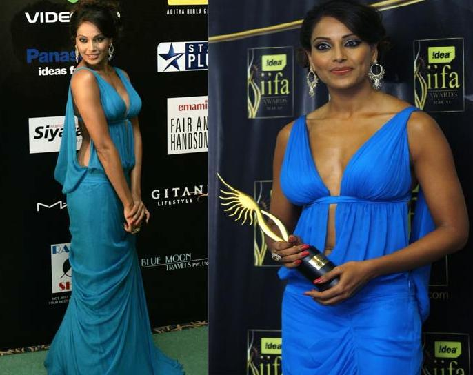Bipasha Basu Gauri Nainika gown IIFA green carpet