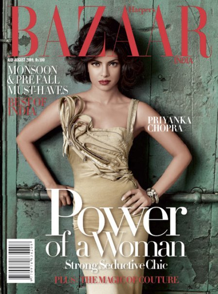 Priyanka Chopra Harpers Bazaar India July August 09 issue