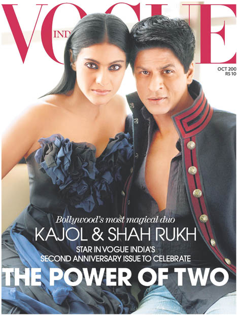 Kajol Shahrukh Vogue India cover