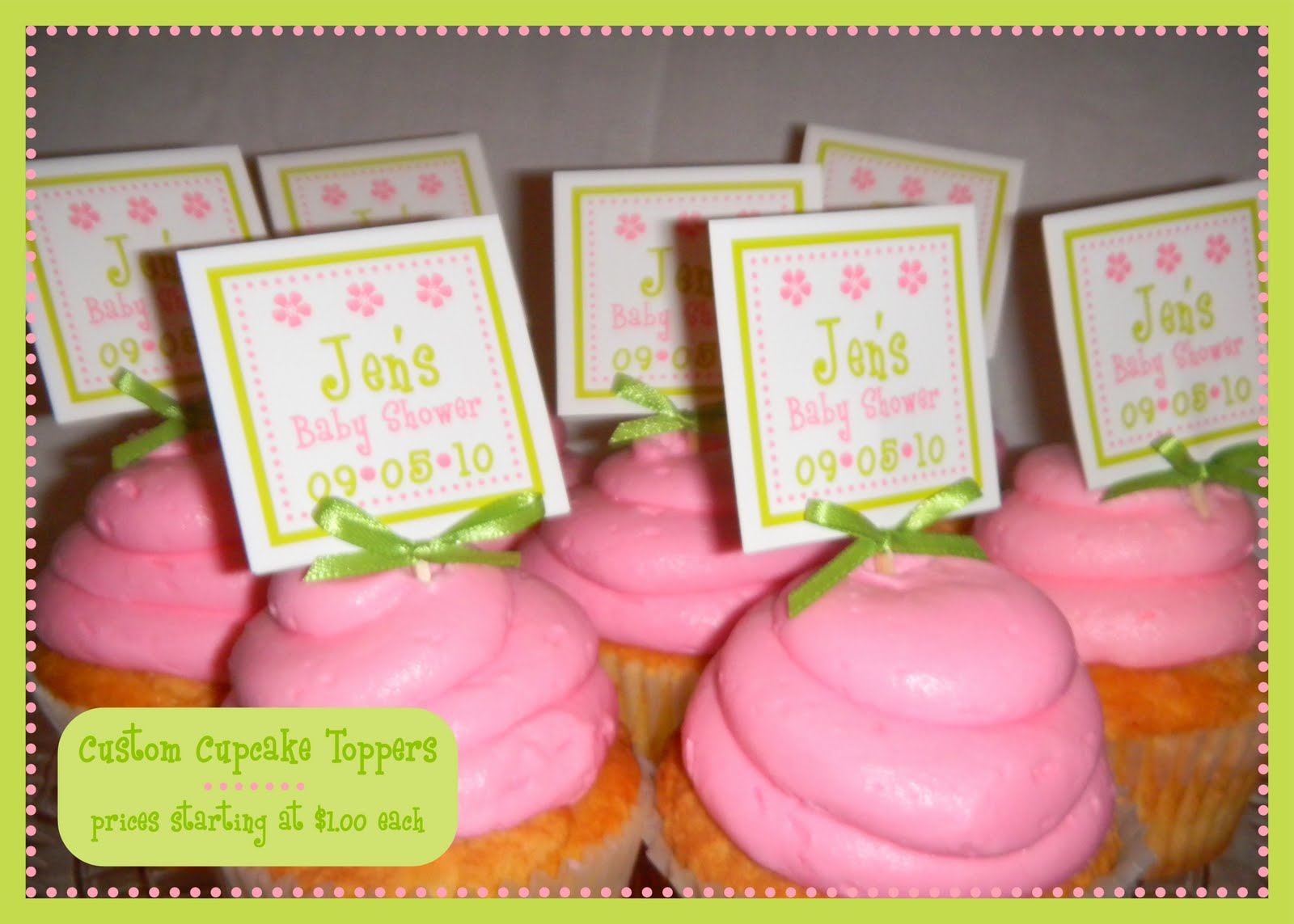 Jen Redman Printing & Design: CUPCAKE TOPPERS, TAKE-OUT FAVOR BOXES ...