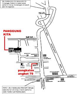Peta Rumah Iwan Fals