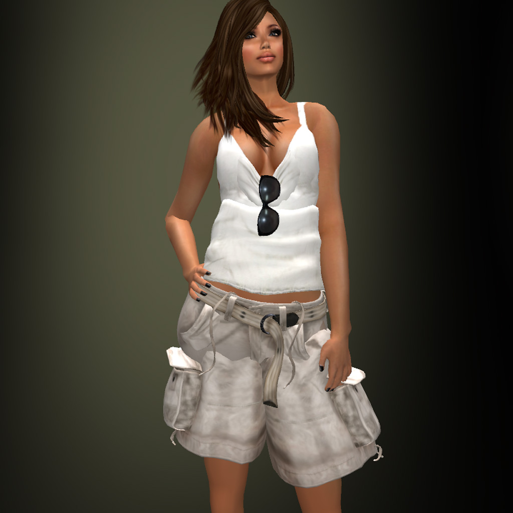 cargo shorts girl