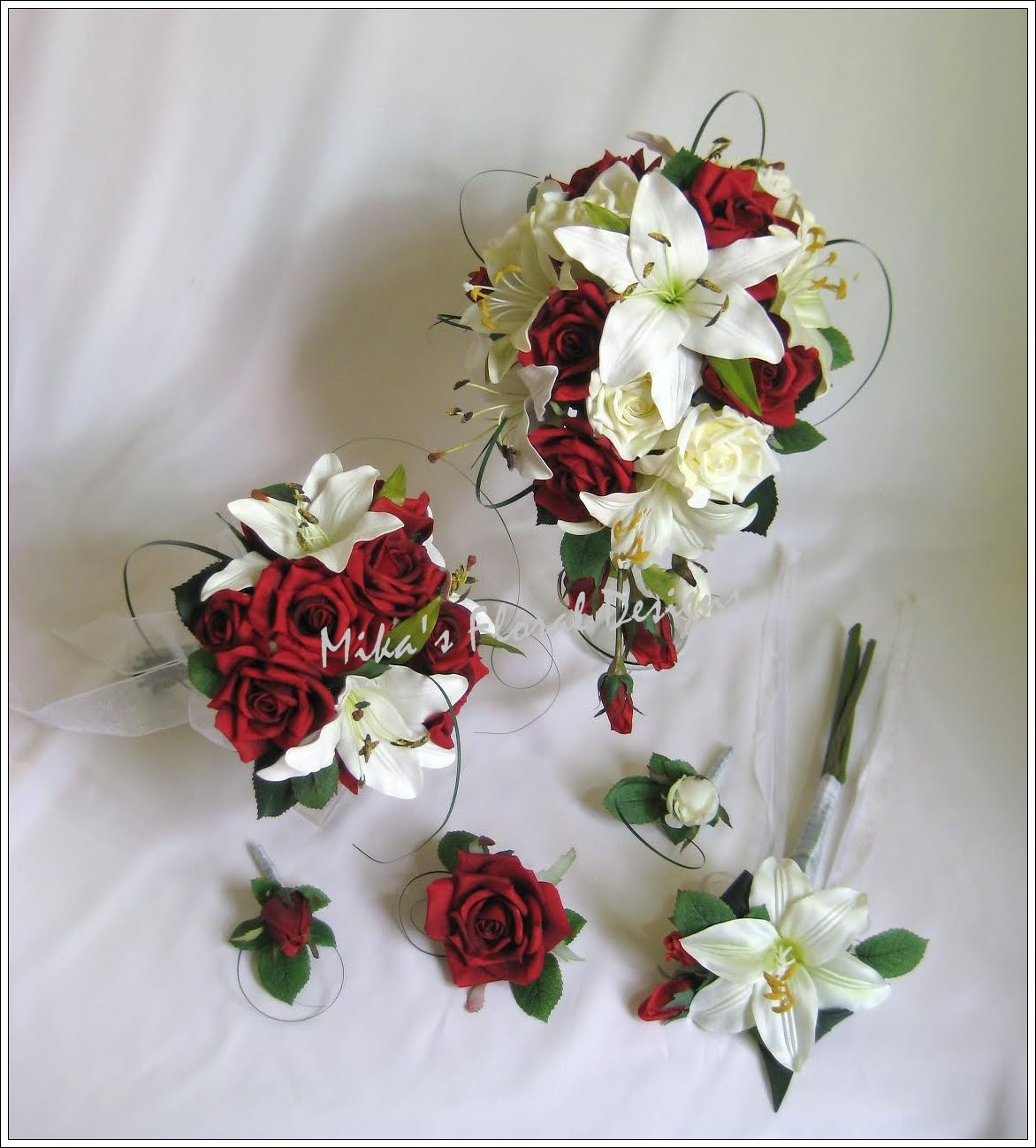 Artificial wedding flowers and bouquets australia wedding flower wedding flower arrangements of roses and lilies mightylinksfo
