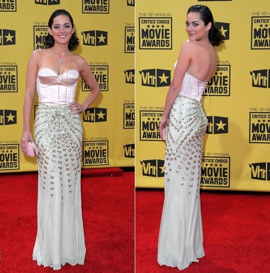 Marion-Cotillard-Dior Dress-Critics Awards+Fashionablyfly.blogspot.com