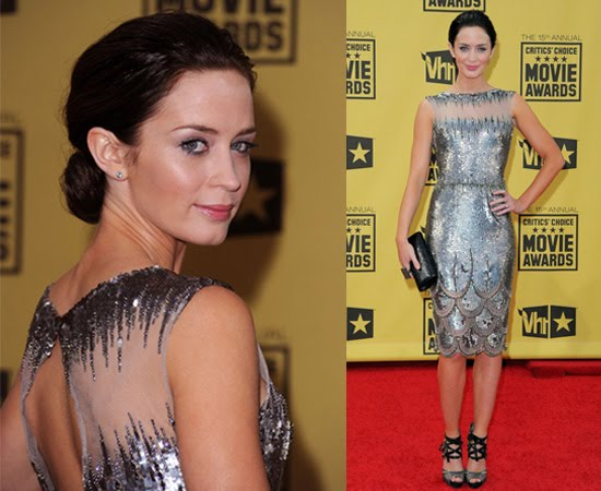 Emily Blunt-George Chakra dress-Critics Awards+fashionablyfly.blogspot.com