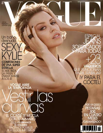 Kylie Minogue in Vogue Spain February 2010+fashionablyfly.blogspot.com