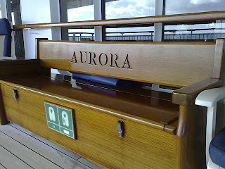 Somewhere to sit on the Promenade Deck