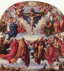 Adoración de la Santísima Trinidad (Retablo de Todos los Santos). Alberto Durero. 1511