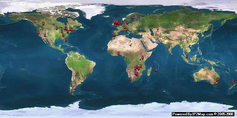 VISITOR'S MAP AS AT 20/03/2009