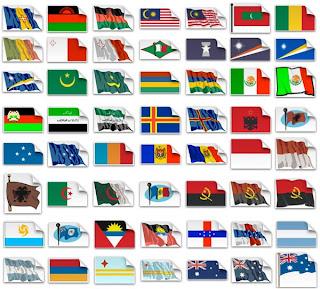 Флаги стран мира. Векторный клипарт.