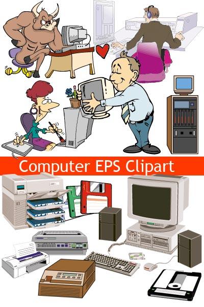 векторный клипарт на тему компьютеры и it