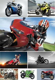 Мотоциклы и мотоциклисты на широкоформатных обоях для рабочего стола