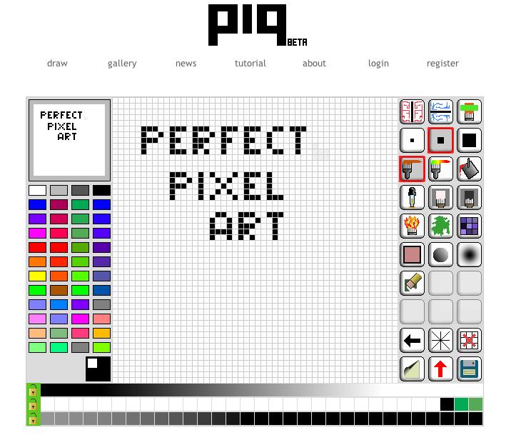 One Line Pixel Art : Perfect pixel art piq online editor