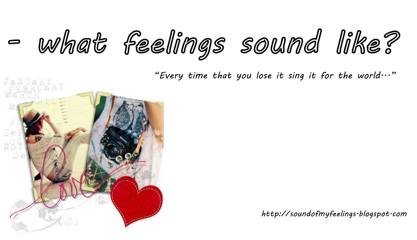 - what feelings sound like?