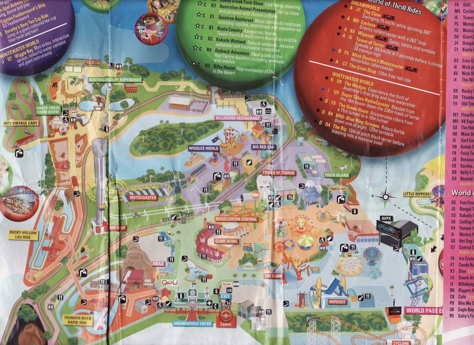 Sengkangbabies gold coast dream world day 6 from the map you will easily take one full day to cover dreamworld gumiabroncs Choice Image