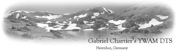 Gabriel's YWAM Adventures!!