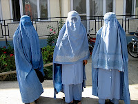 Three Muslim women on holiday