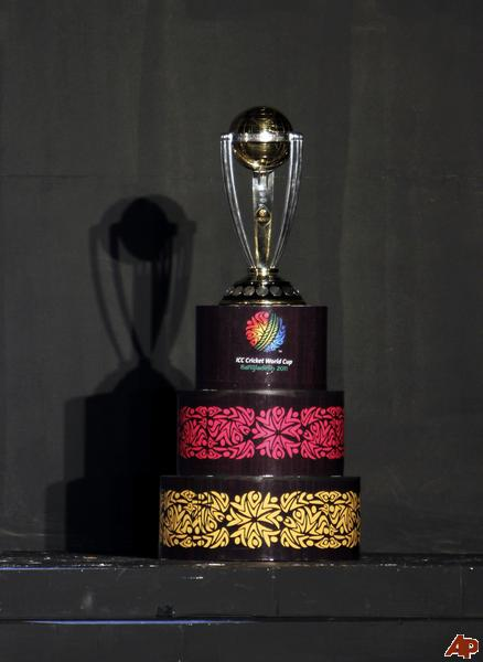 world cup cricket trophy photos