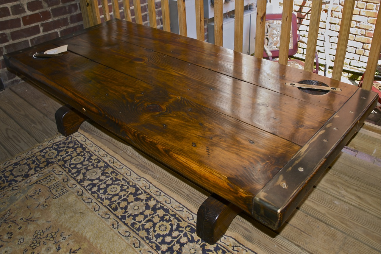 Cargo coffee table rascalartsnyc blue elephant featured item of the week ship s hatch table sold cargo coffee table geotapseo Gallery