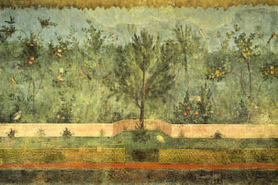 second style wall painting  Gardenscape Wall Painting-Villa of Livia