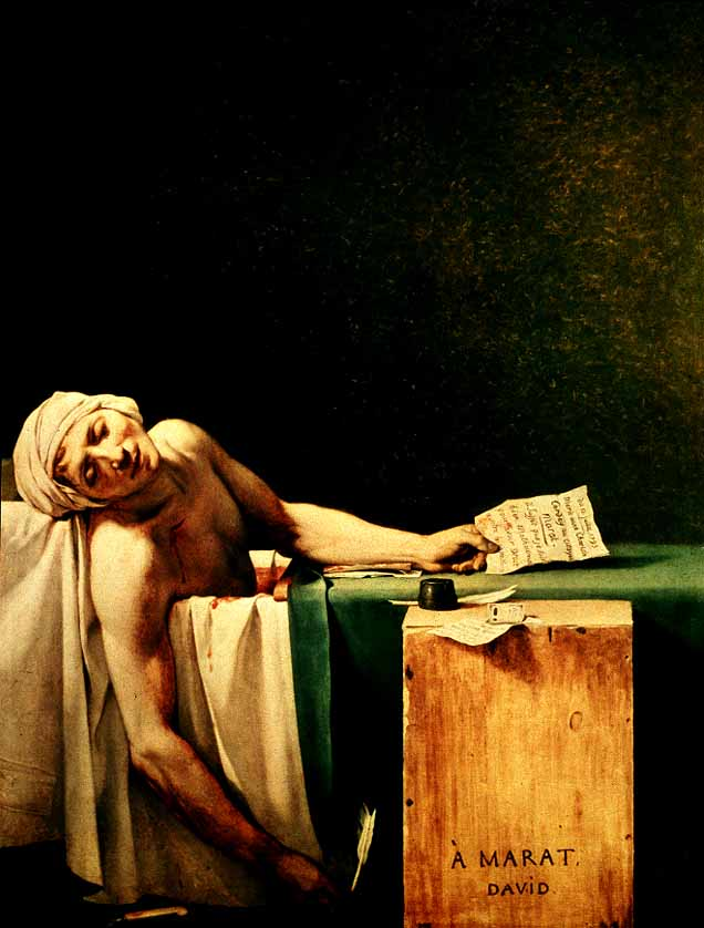 Death of Marat - Jacques-Louis David