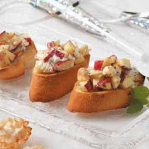 Gourmet Apple Goat Cheese Bruschetta