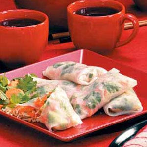 Asian Gourmet Spring Rolls Recipe with Peanu Sauce