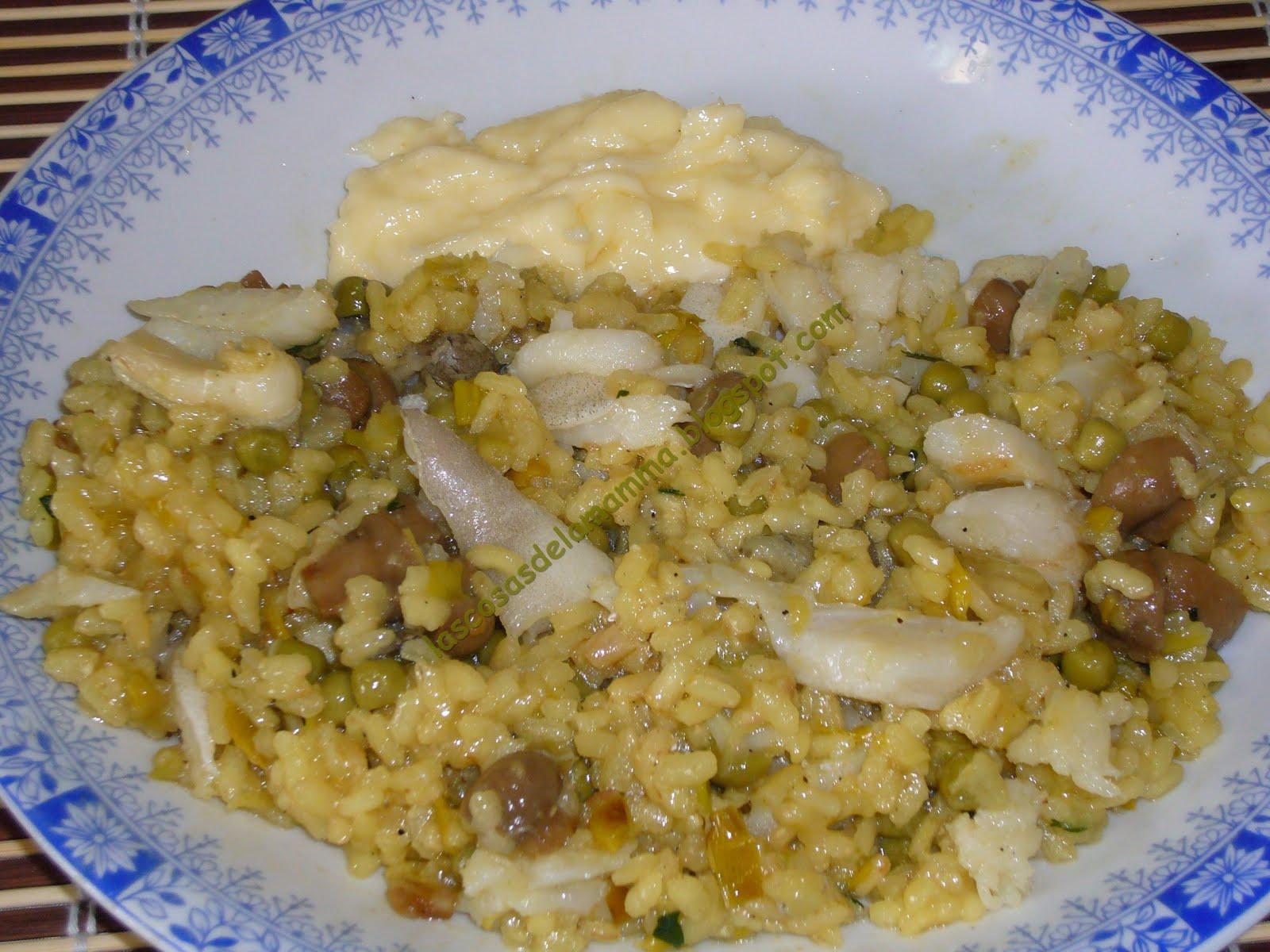 Las cosas de la mamma arroz con bacalao - Arroz con bacalao desmigado ...