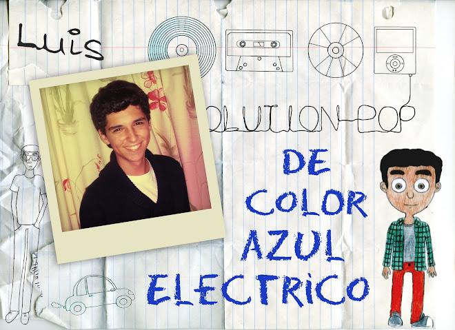 De color azul eléctrico