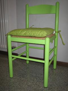 FANTASIE DI CRISTINA: sedia cucina color verde acido