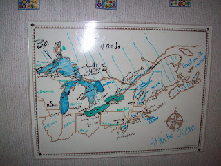 Paddle to the Sea Map - Great Lakes Region