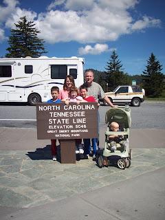 North Carolina - Tennesse State Line