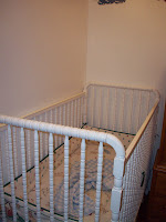Baby's crib complete with bedding used by three previous babies!