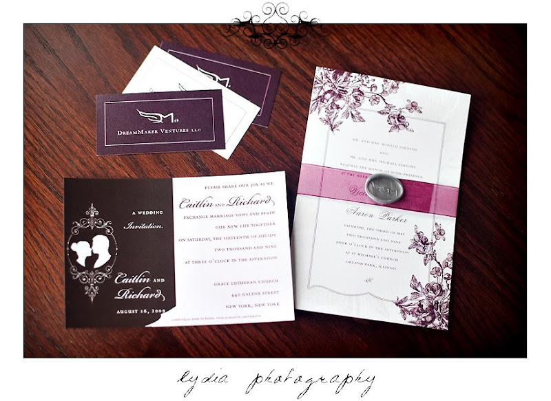 Invitations by DreamMaker Ventures at the Santa Rosa Wedding Expo