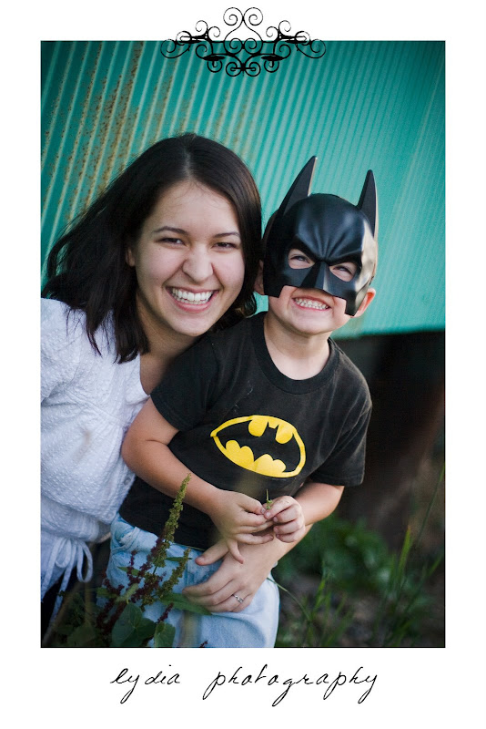 Batman and a friend at lifestyle kids portraits on a farm in Indiana, Pennsylvania