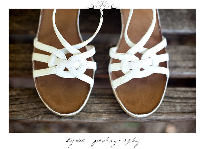 Picture of Rosemary's wedding shoes in Santa Rosa California
