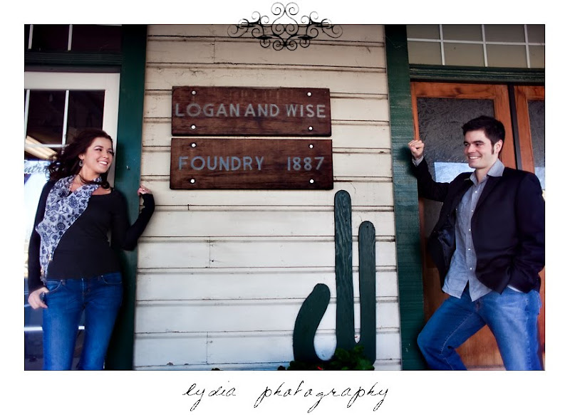 Alicia and Chris' engagement pictures in old town Cottonwood California