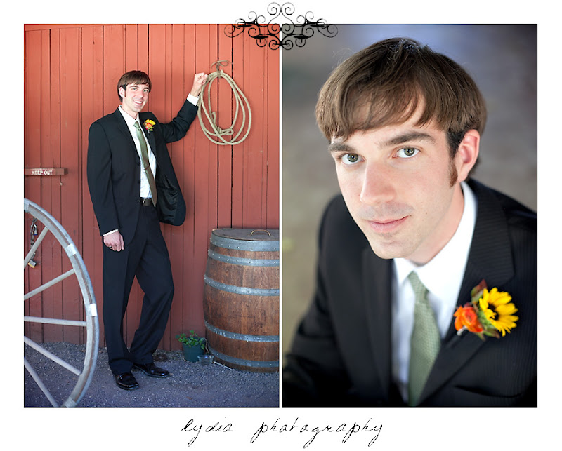 Portraits of the groom looked cool and collected at a Kenwood Farms & Gardens wedding