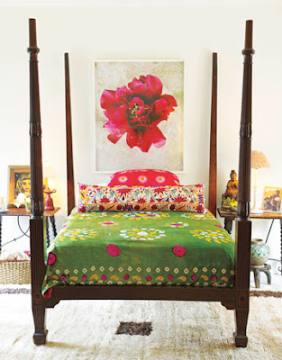 bedroom design, suzani, ikat, bohemian decor, boho decor, gypsy fashion, interior design, interior decor, decor, decorating, eclectic decor