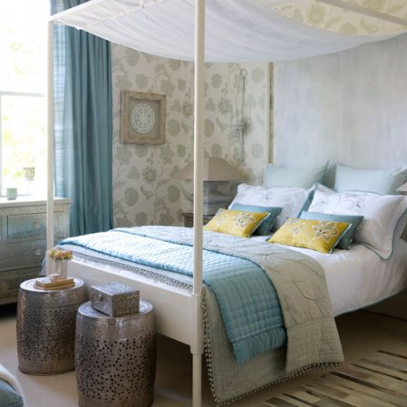 Inspire bohemia bright and fresh colors - Calming bedroom designs ...