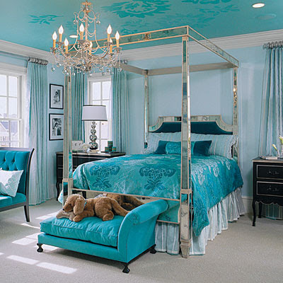 Modern bedroom decorating ideasinterior design modern for Teal bedroom designs