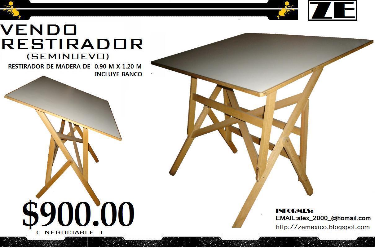 Zemexico restirador seminuevo for Restirador de madera