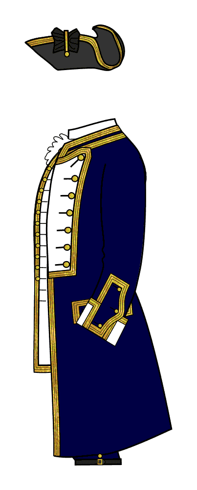 Royal Navy Captain, undress uniform