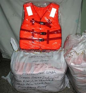 Lifejackets sent by Sandeep,Mumbai