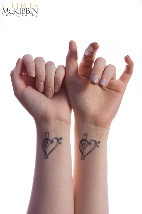 A unique collaboration matching tattoos for couples in love for Matching tattoos for couples in love